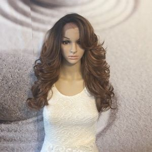 Light brown lace front wig.